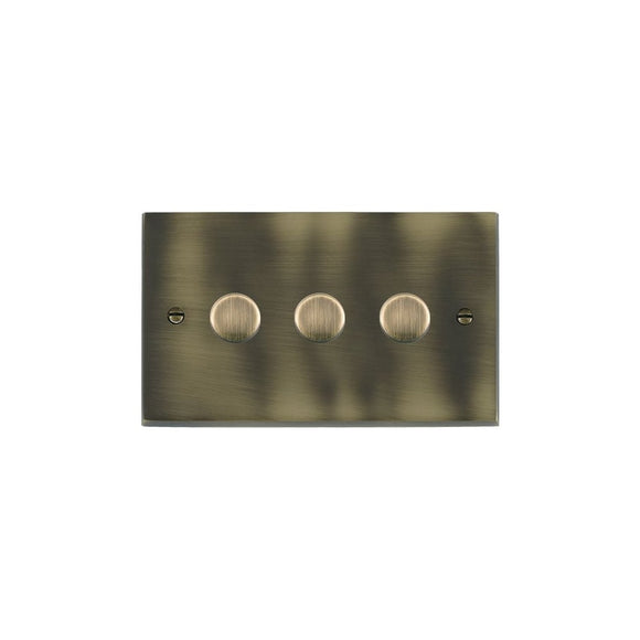 Cheriton Victorian Antique Brass 3g 100W LED Dimmer AB