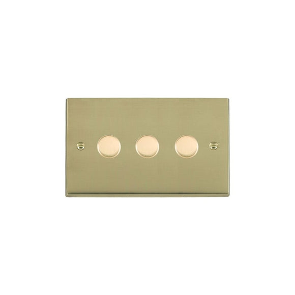 Cheriton Victorian Polished Brass 3g 250W Multi-Way Dim PB