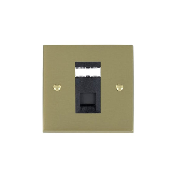 Cheriton Victorian Satin Brass 1g RJ12 Outlet-Unshield BL