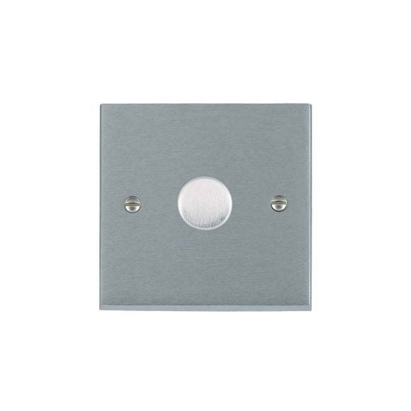 Cheriton Victorian Satin Chrome 1g 600W 2 way Dimmer SC