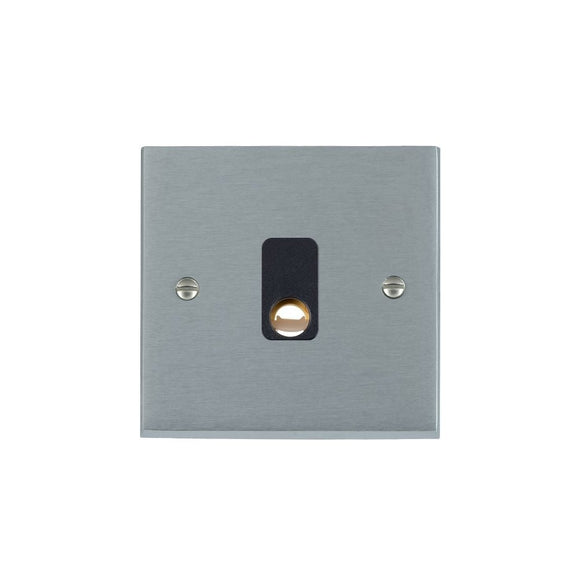 Cheriton Victorian Satin Chrome 20A Cable Outlet BL