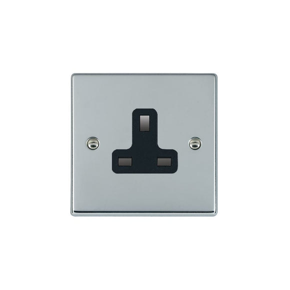 Hartland Bright Chrome 1g 13A Unswitched Socket BL
