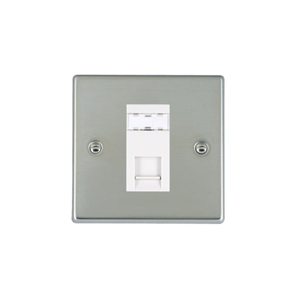 Hartland Bright Stainless Chrome 1g RJ12 Outlet-Unshield WH