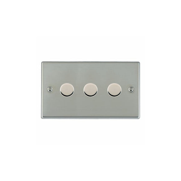 Hartland Bright Stainless Chrome 3g 400W 2 way Dimmer BS