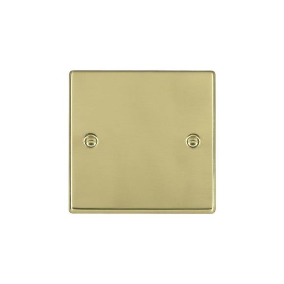 Hartland Polished Brass Single Blank Plate