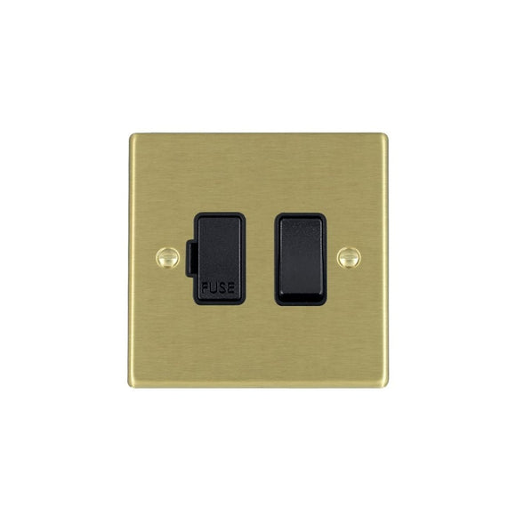 Hartland Satin Brass 1g 13A DP Fused Spur BL/BL