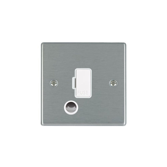 Hartland Satin Stainless 1g 13A Fuse + CO WH/WH