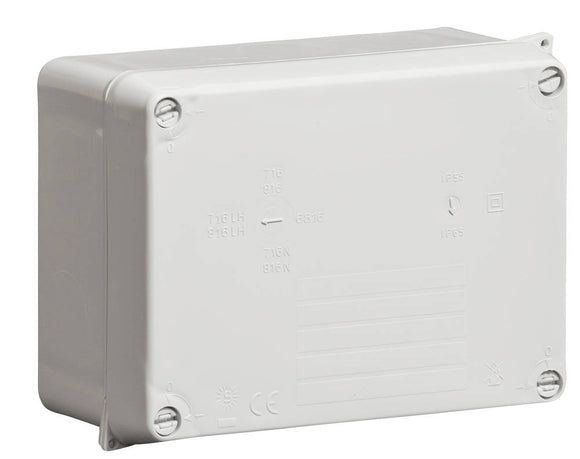 Wiska 160x120x71mm Grey Thermoplastic Hinged Cover & Lid Junction Box WIB2 Industrial Smooth Side IP65 WIB