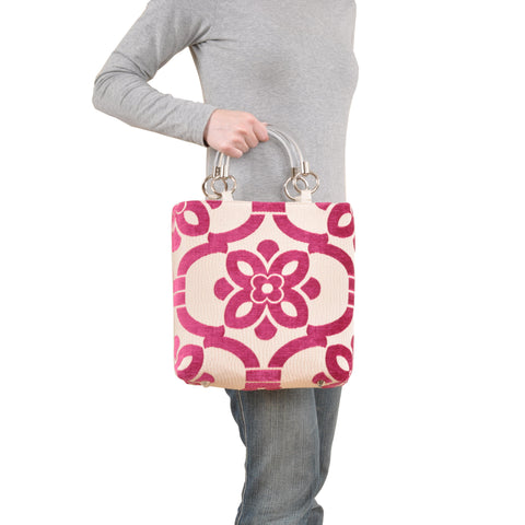 Image of Stencil Teal Small Tote