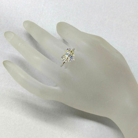 Super Sparkly Sterling Silver Swarovski Crystal Heart Bling Ring