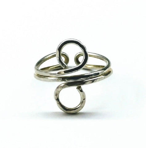 Sterling Silver Adjustable Wire Wrap Finger Toe Ring