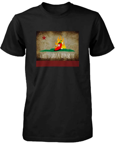 Image of Funny Graphic Statement Mens Black T-shirt - Chilifornia Republic