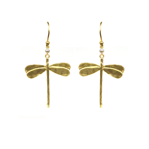 Image of Dragonfly Pearl Earrings