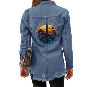 Women's FYC Bondi Beach Casual Denim Jacket