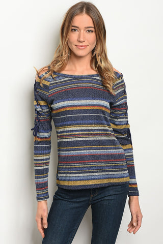 Womens Multi Stripes Top