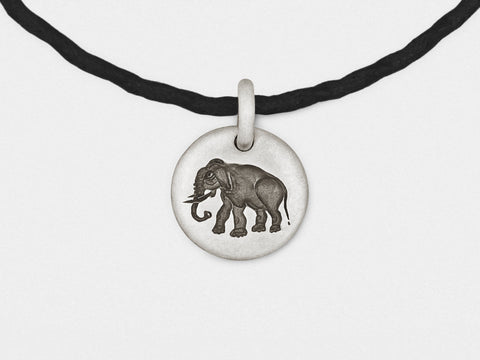 Image of Elephant Charm Bracelet in Sterling Silver