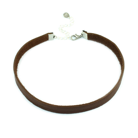 Genuine Leather Choker Necklace