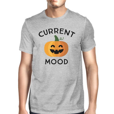 Image of Pumpkin Current Mood Mens Grey Shirt