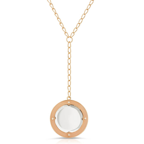 Calista Gold - Magnifier Pendant Necklace