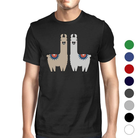 Llama Pattern Mens Cute Christmas Unique Design T-Shirt Funny Gift