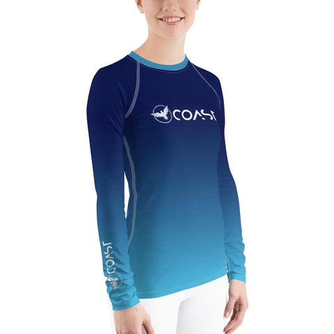 Image of Women's Ocean Fade Sleeve Performance Rash Guard UPF 40+