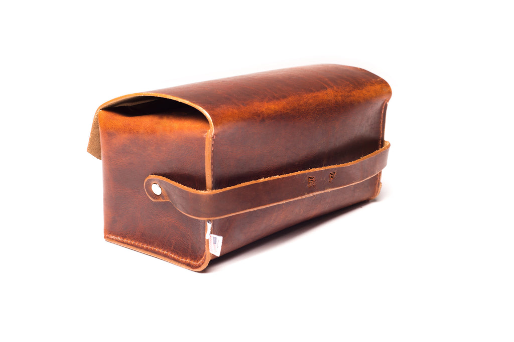 Men's Toiletry Case - Dopp Kit, Walnut - Monogram