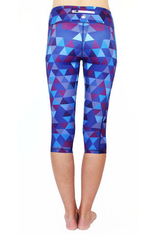 Image of Purple Pixel - Large Pocket Capri