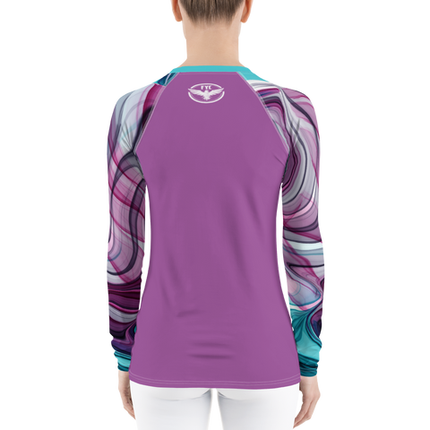 Women's Water Colors Performance Rash Guard UPF 40+