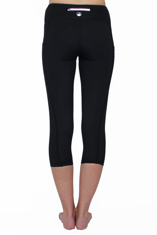 Image of Black and Gray Weave - Pocket Capri