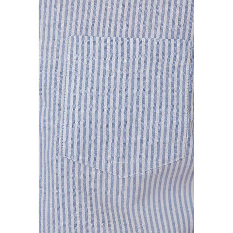 Image of Larry Blue Vertical Striped Shirt