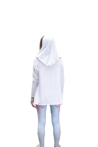Image of Jedi Yoga Hoodie White