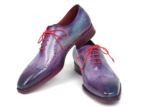 Image of Paul Parkman Men's Wingtip Oxfords Goodyear Welted Purple (ID#87PRP11)