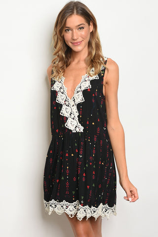 Black Ivory Lace Dress
