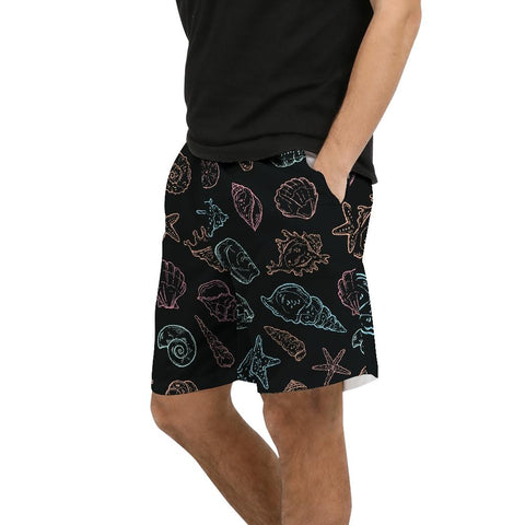 Men's Find Your Coast Black Shellies Beach Shorts UPF 40+ W/Lining