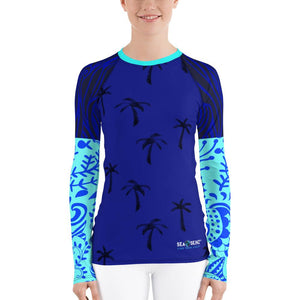 Women's Destination Ocean Sea Skinz Performance Rash Guard UPF 40+