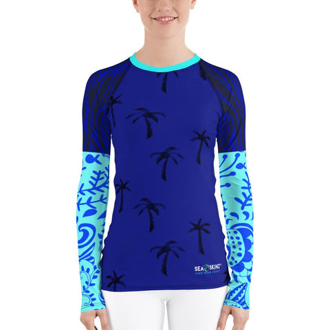 Image of Women's Destination Ocean Sea Skinz Performance Rash Guard UPF 40+