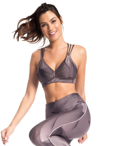 Image of PRINTED TRIANGLE SPORTS BRA