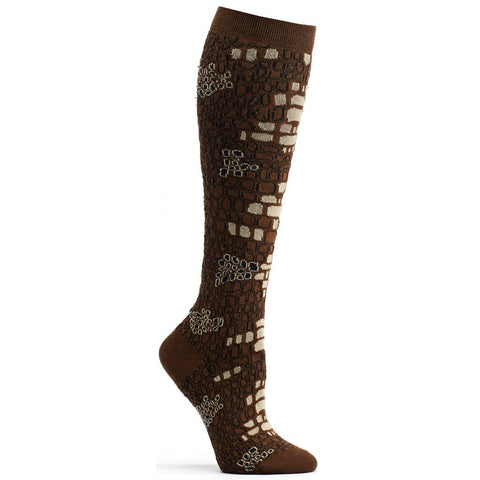Image of Python Skin Knee High Sock