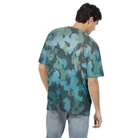 Men's O.U.R. Outdoors Ocean Camo Fitted Breathable Crewneck Tee