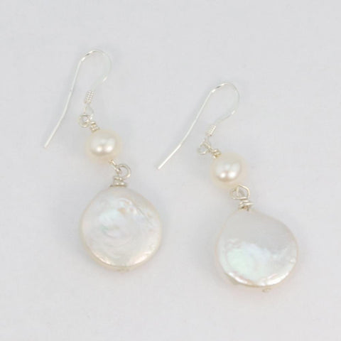 Coin Pearl Dangles