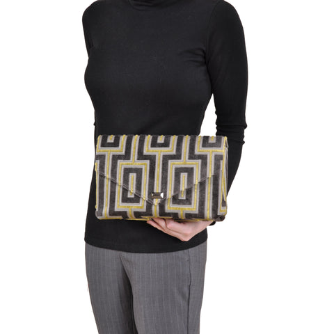 Image of Maze Grey envelope clutch