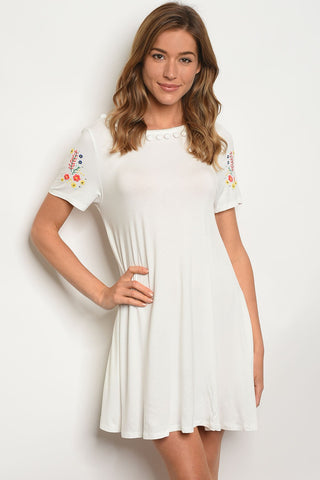Womens Off White Dress
