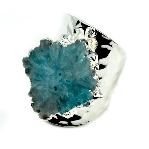 Baily Geode Statement Ring in Silver