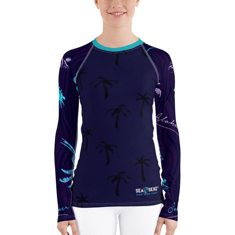 Women's Hawaiian Adventure Sea Skinz Performance Rash Guard UPF 40+