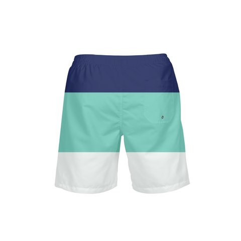 Men's Striped UPF 40+ Beach Shorts