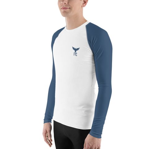 Image of Men's FYC Blue Sleeve Performance Rash Guard UPF 40+