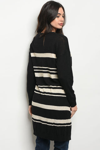 Image of Womens Stripes Cardigan