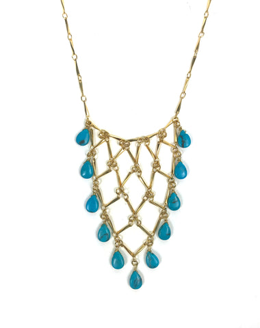 Sleeping Beauty Turquoise Statement Necklace