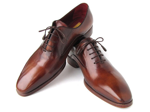 Image of Paul Parkman Men's Plain Toe Brown Calfskin Oxfords (ID#019-BRW)