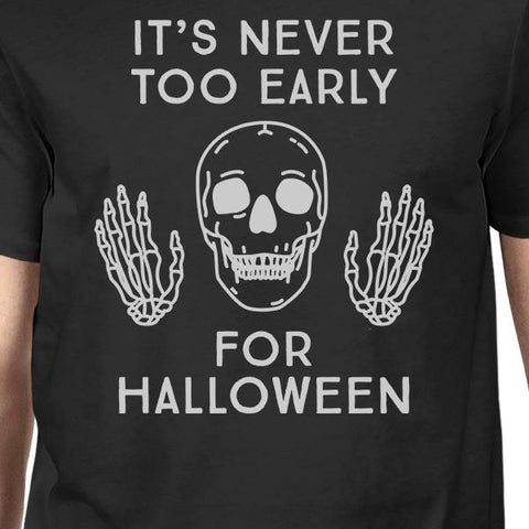 Image of It's Never Too Early For Halloween Mens Black Shirt